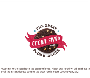 blogger cookie swap sign up