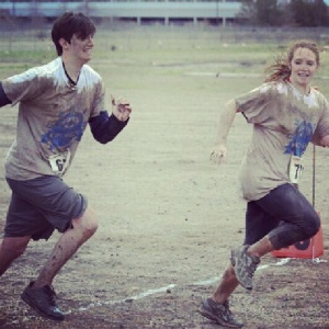 Shane and I ran in a mud run last spring